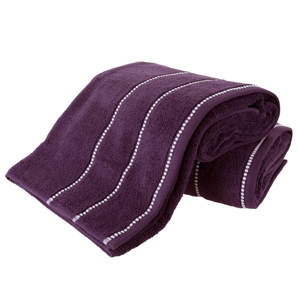 8 Piece Purple Solid Bath Towel Set