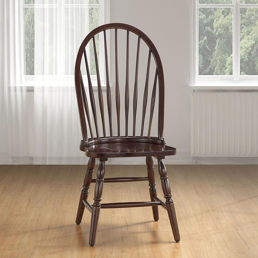 Ina Cottage Espresso Wood Windsor Dining Chair