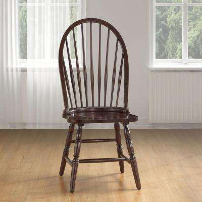 Espresso Wood Windsor Dining Chair
