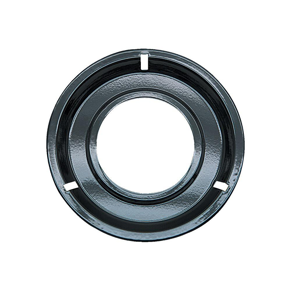 Range Kleen 8.25 in. Drip Pan in Porcelain/Black