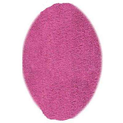Ultimate Shag Hot Pink 5 Ft. X 7 Ft. Oval Area Rug