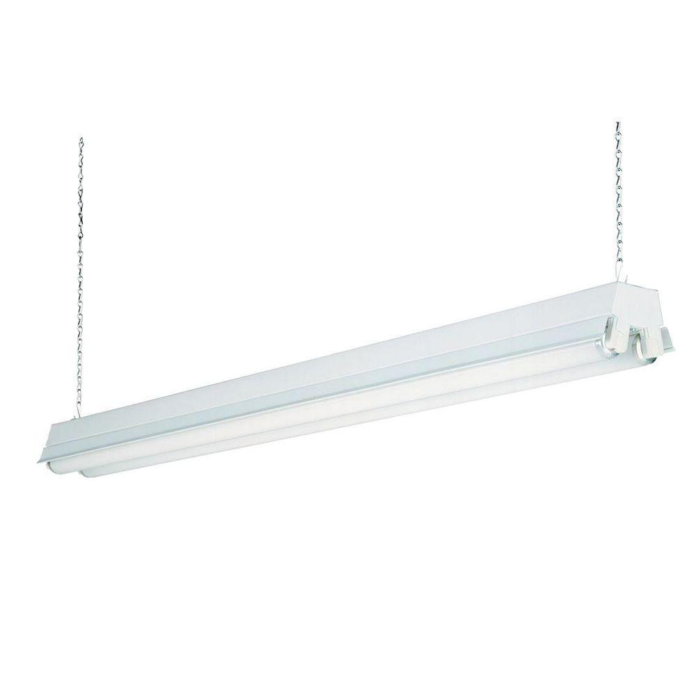 2 light white t8 fluorescent residential shop light