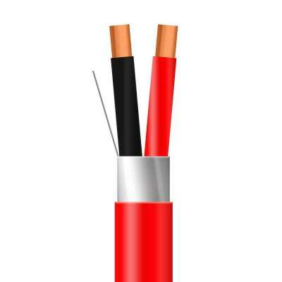 1,000 ft. 16/2 Red Solid Shielded CL3R/Riser Spool UL Fire Alarm Cable