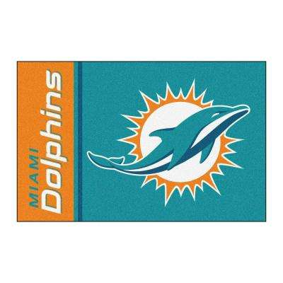 NFL - Miami Dolphins Turquoise Uniform Inspired 2 ft. x 3 ft. Area Rug