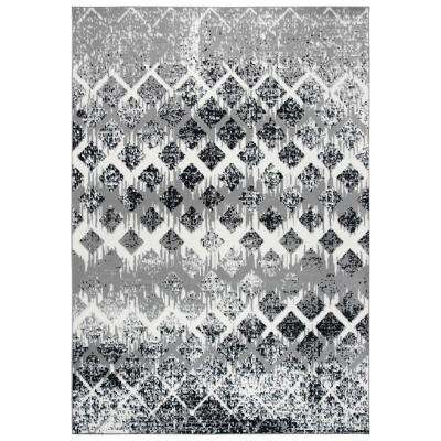 Xcite Gray/Black 8 ft. x 10 ft. Rectangle Area Rug