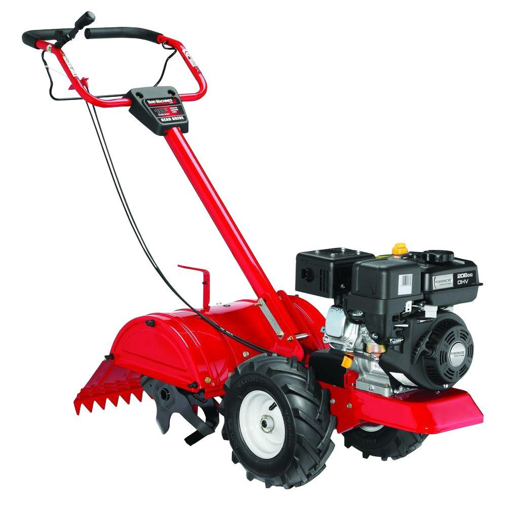 18 in. 208cc Rear-Tine Counter-Rotating Gas Tiller with Reverse Gear