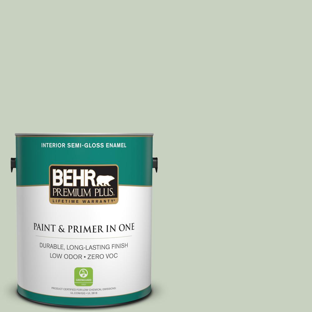 1-gal. #PPF-25 Terrace View Zero VOC Semi-Gloss Enamel Interior Paint