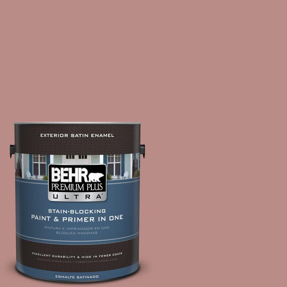 1-gal. #170F-5 Brick Dust Satin Enamel Exterior Paint