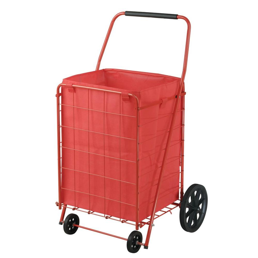 9f352d7d5089 Sandusky 21 in. 4-Wheel Utility Cart with Liner, Red