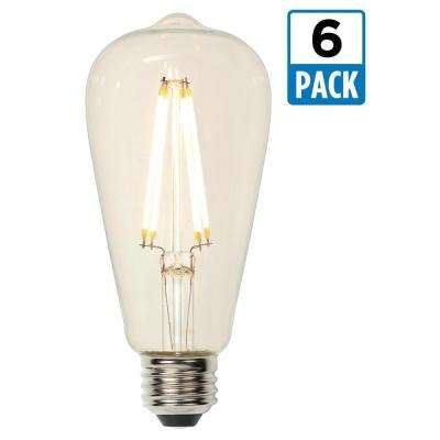 60W Equivalent Soft White ST20 Dimmable Filament LED Light Bulb (6-Pack)