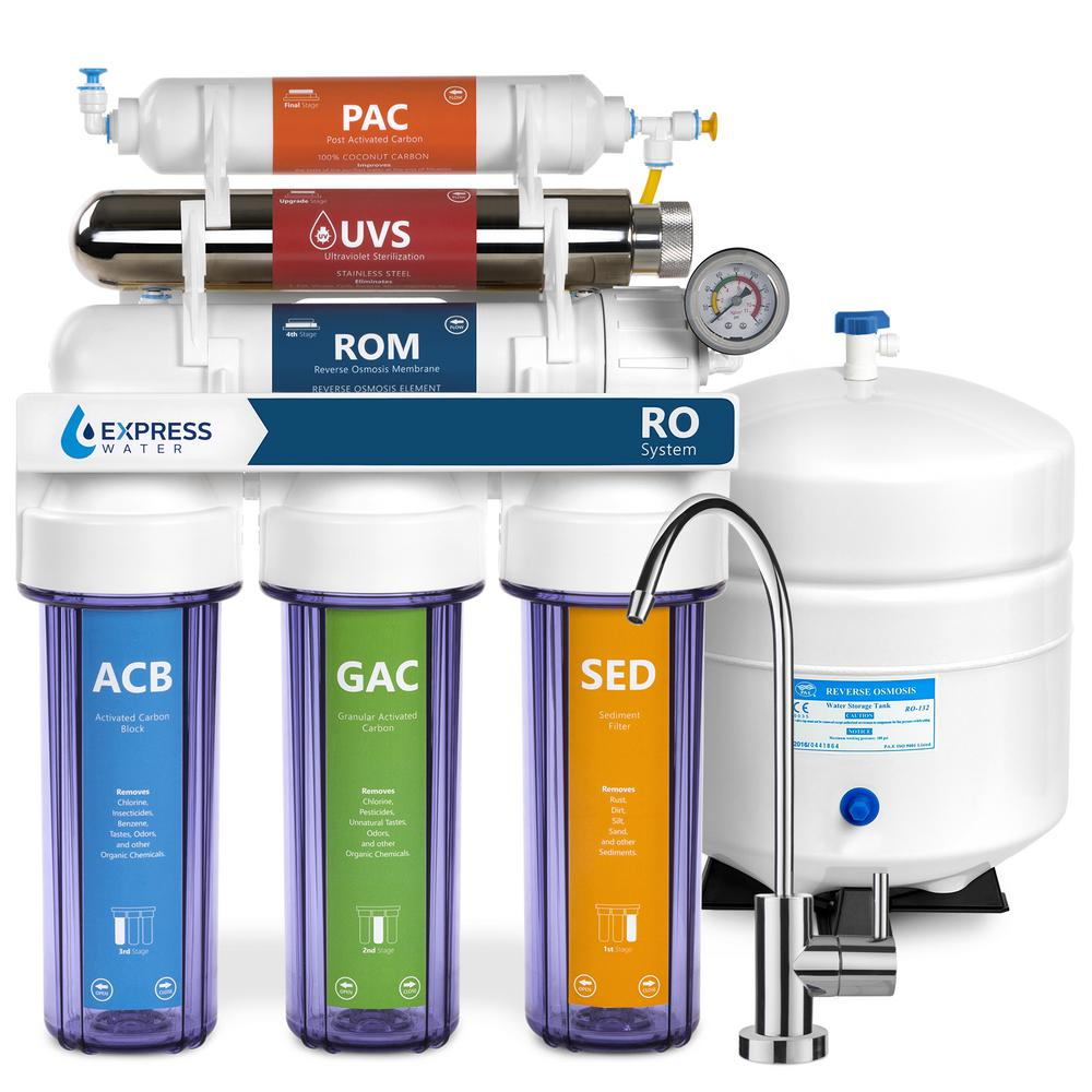 Ultraviolet Under Sink Reverse Osmosis Water Filtration - 6 Stage UV