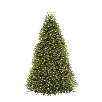 9 ft. Pre-Lit Dunhill Fir Hinged Artificial Christmas Tree with Clear Lights