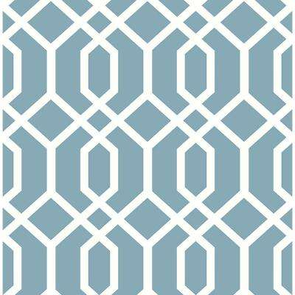 Trellis Blue Montauk Wallpaper