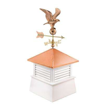Manchester 30 in. x 30 in. x 68 in. Vinyl Cupola with Standard American Eagle