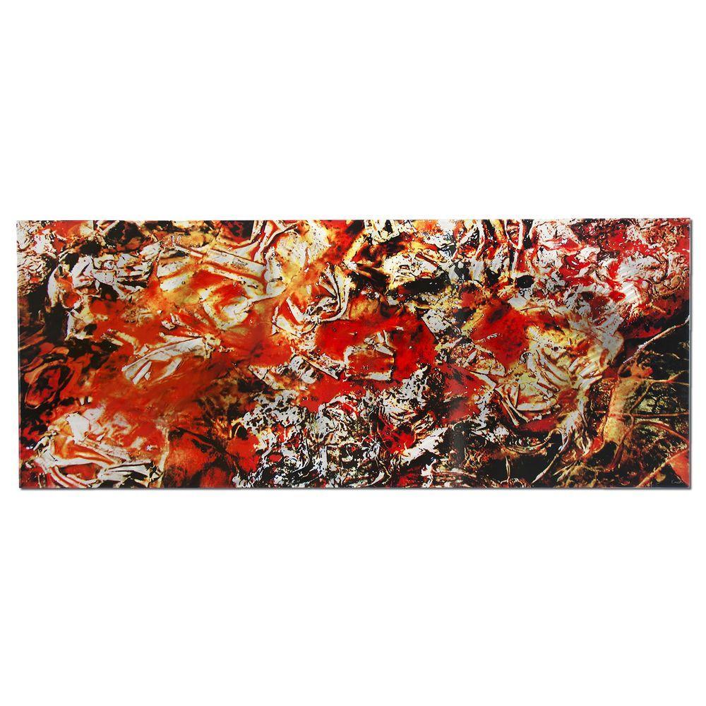 Brevium 19 in. x 48 in. Cinders Metal Wall Art