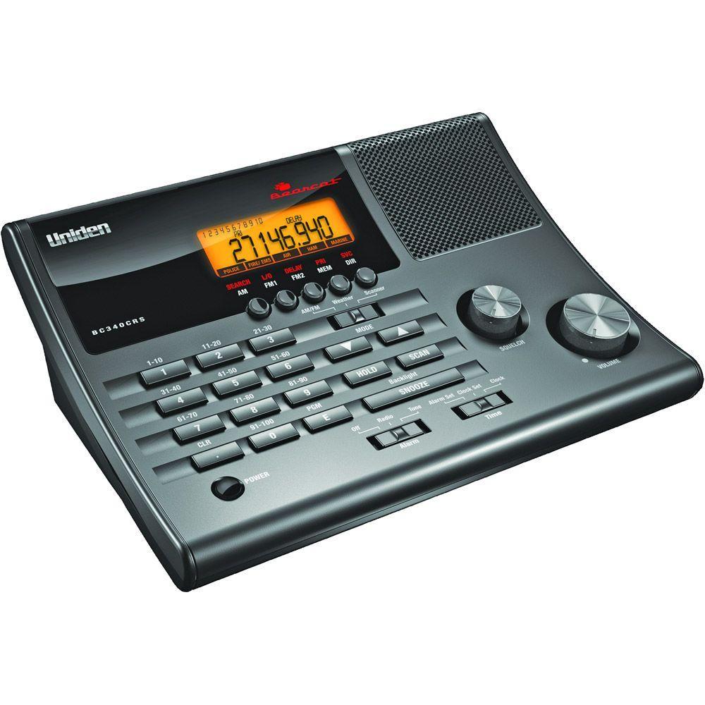 null 100-Channel Clock Radio Scanner