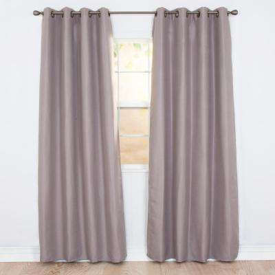 Blackout Linen Look Silver Polyester Blackout Curtain
