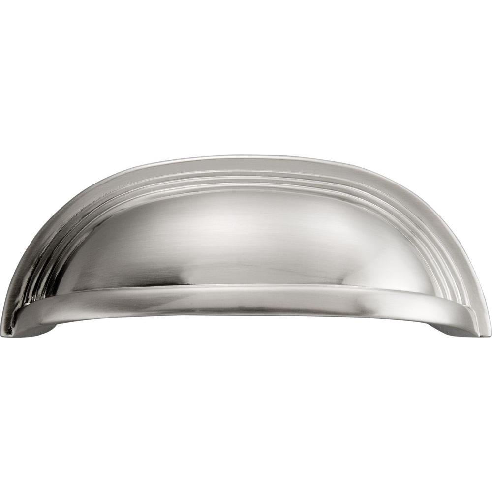 Hickory Hardware Deco 96 Mm Satin Nickel Cup Pull