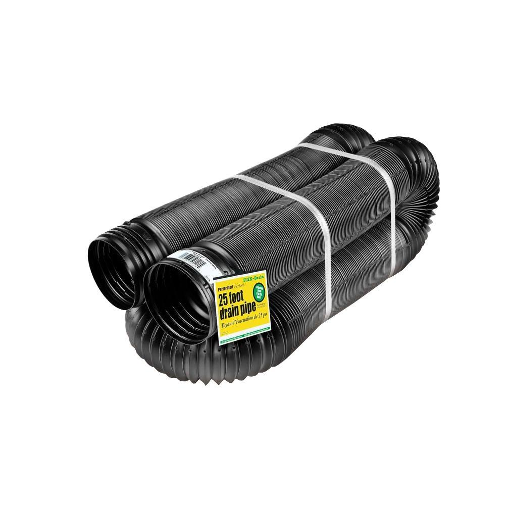 FLEX-Drain 4 in. x 25 ft. Polypropylene Perforated Pipe