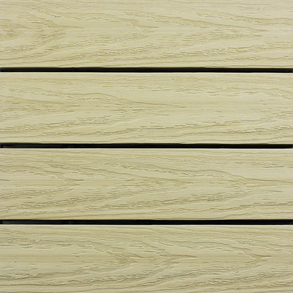 UltraShield Naturale 1 ft. x 1 ft. Quick Deck Outdoor Composite Deck Tile in Sahara Sand (10 sq. ft. Per Box)