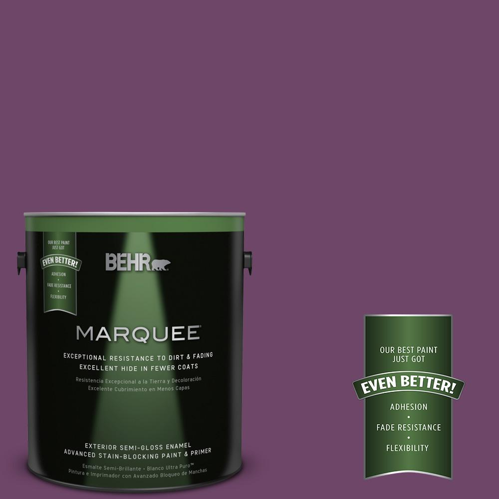 BEHR MARQUEE 1-gal. #S-G-680 Raspberry Mousse Semi-Gloss Enamel Exterior Paint