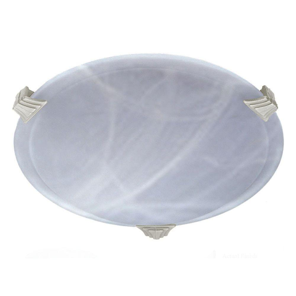 Contemporary Beauty 1-Light Iron Halogen Ceiling Flush Mount