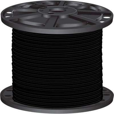 500 ft. 4 Black Stranded CU SIMpull THHN Wire Home Depot Electrical Wiring on