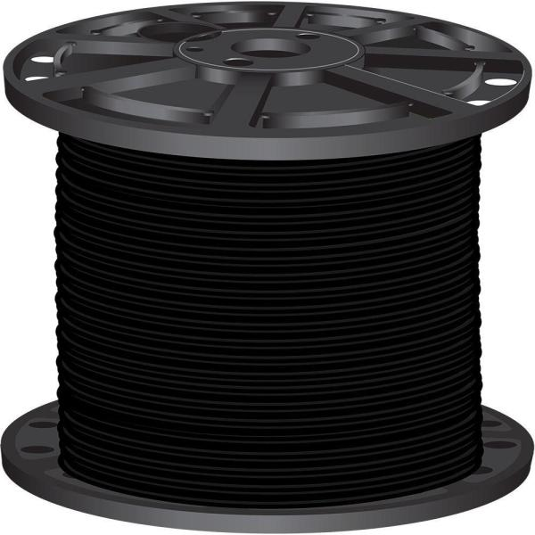 1000 ft. 2 Black Stranded CU SIMpull THHN Wire