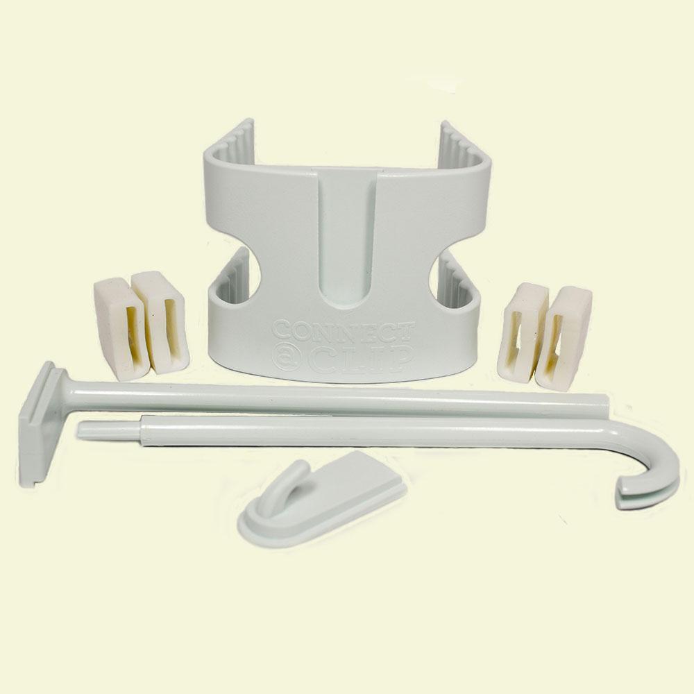 4 in. White Plastic Flagpole Bracket