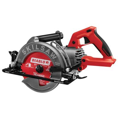 TRUEHVL 48-Volt Lithium-Ion Cordless 7-1/4 in. Worm Drive Saw with Diablo Blade (Tool-Only)