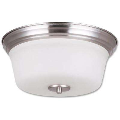 Seattle Collection 2-Light Satin Nickel Flush Mount Light