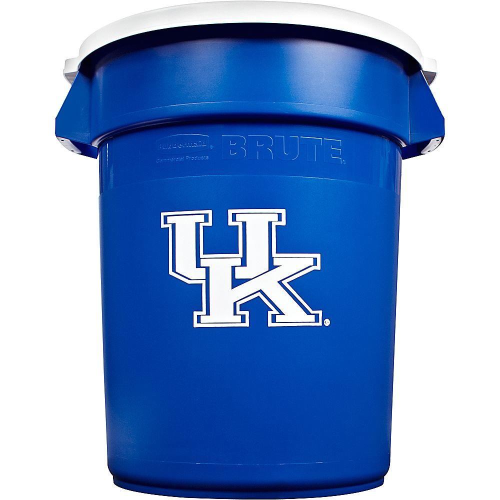 Rubbermaid Commercial Products BRUTE NCAA 32 Gal. University of Kentucky Round Trash Can with Lid