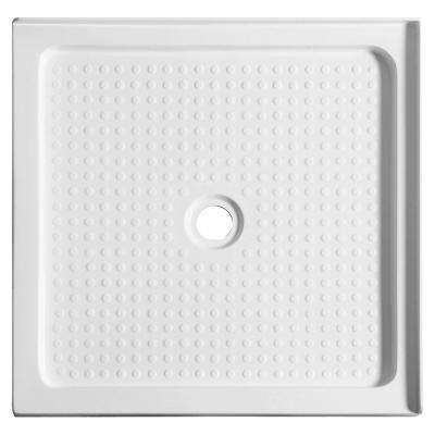 Valley Series 38 in. x 38 in. Double Threshold Shower Base in White