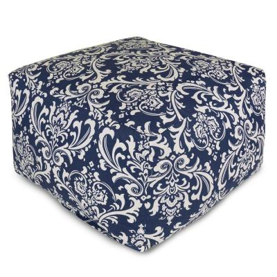 Navy Blue French Quarter Indoor/Outdoor Ottoman Cushion