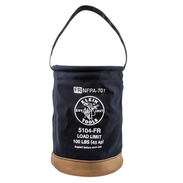 Canvas Bucket, Flame-Resistant, 12-Inch