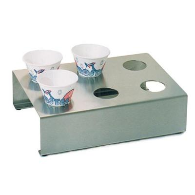 Stainless Steel Snow Cone Holder and Food Tray Attachment for Paragon Snow Cone Machine
