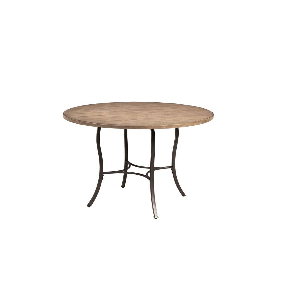 Wood And Metal Round Dining Table Part - 24: Hillsdale Furniture Charleston Dark Grey Dining Table