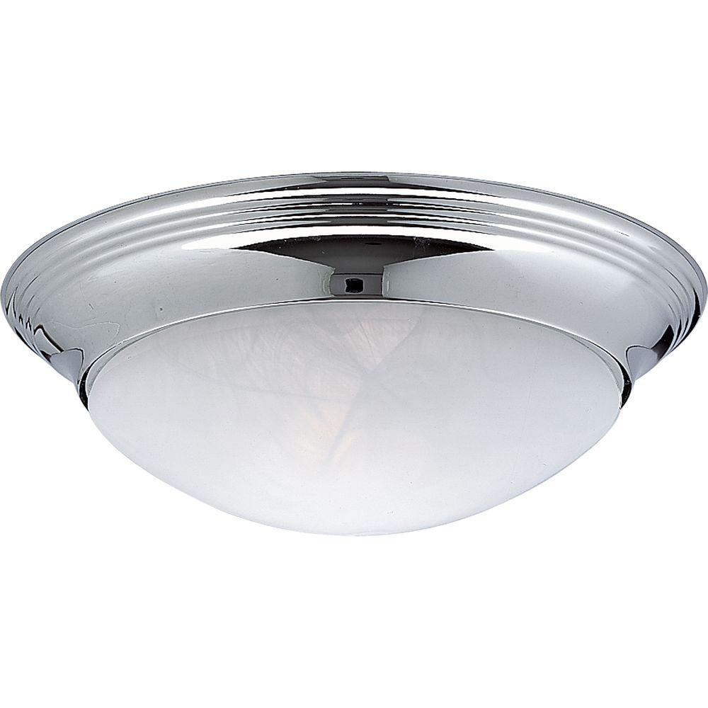 1 light flush mount alabaster glass collection chrome home lighting fixture new