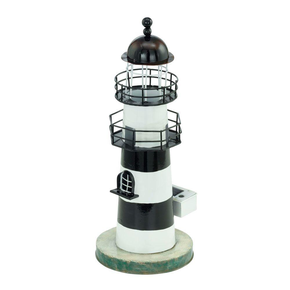 Eglo Solar LED White And Blue Outdoor Lighthouse Light