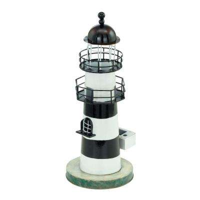 Solar LED White and Blue Outdoor Lighthouse Light