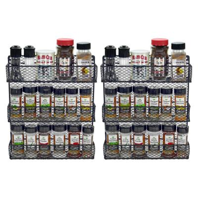 3-Tier Wall Spice Rack (Set of 2)