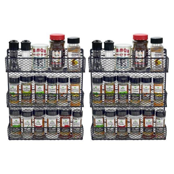 Southern Homewares 3-Tier Wall Spice Rack (Set of 2)