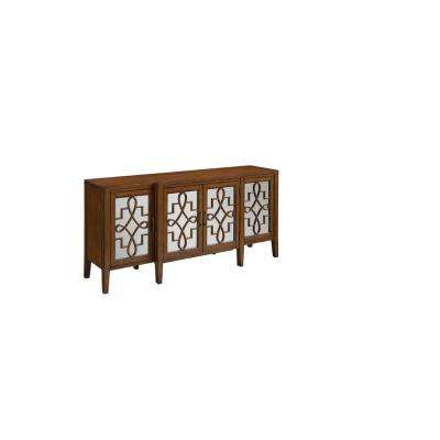 Clover Brown Mirrored Cabinet