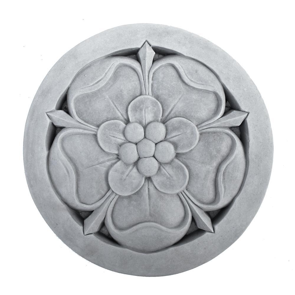 Cast Stone Tudor Rose Stepstone Antique Gray