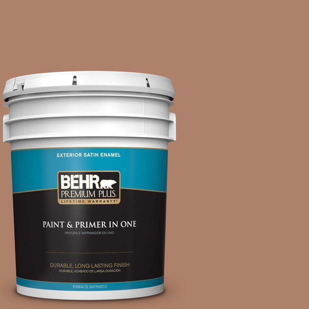 5-gal. #S210-5 Cider Spice Satin Enamel Exterior Paint