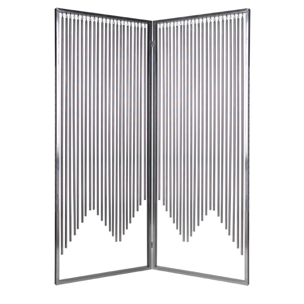 ENSEMBLE 6 ft. Silver 2-Panel Room Divider