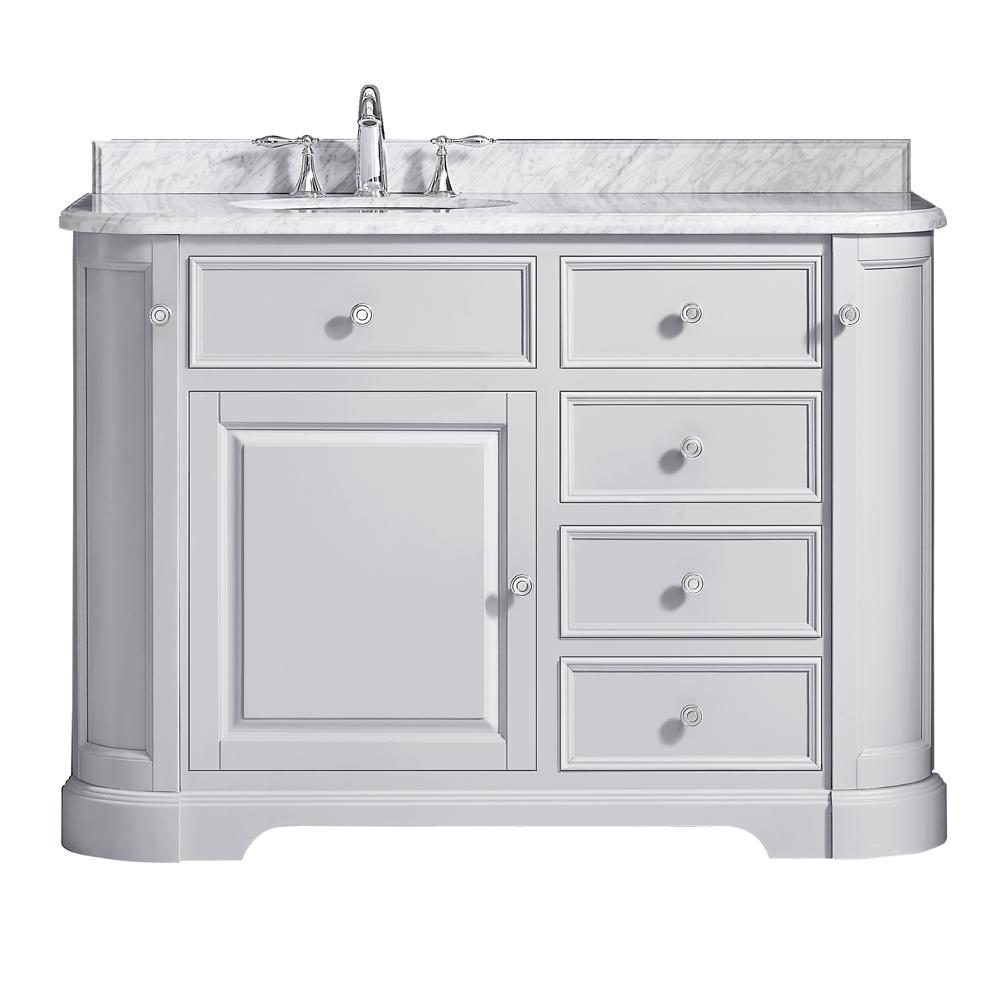 Ove Decors Diana 48 In W X 215 In D Vanity In Dove Gray With