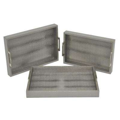 Gray Tray (Set of 3)
