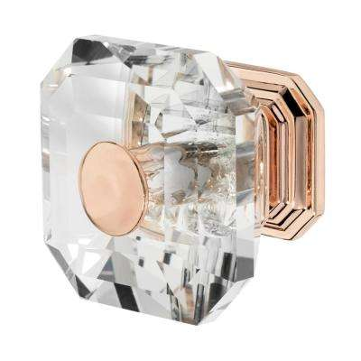 Rose Gold With Clear Crystal Cabinet