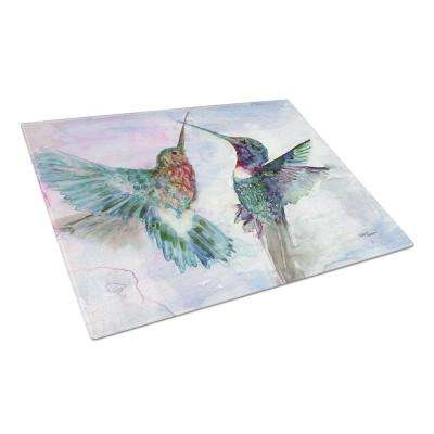 Hummingbird Combat Tempered Glass Large Cutting Board